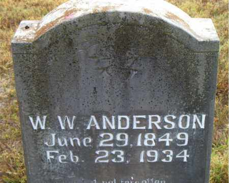 ANDERSON, W. W. - Boone County, Arkansas | W. W. ANDERSON - Arkansas Gravestone Photos