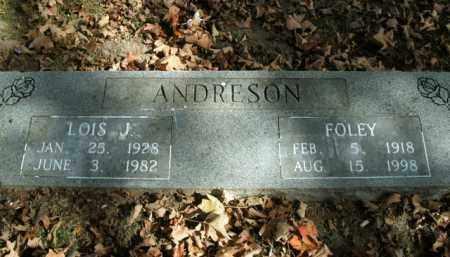 ANDRESON, FOLEY - Boone County, Arkansas | FOLEY ANDRESON - Arkansas Gravestone Photos