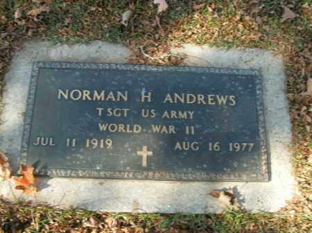 ANDREWS  (VETERAN WWII), NORMAN H - Boone County, Arkansas | NORMAN H ANDREWS  (VETERAN WWII) - Arkansas Gravestone Photos