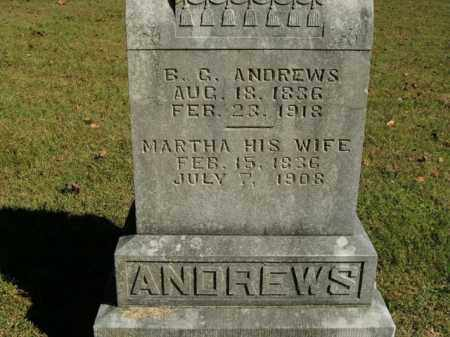 ANDREWS, MARTHA - Boone County, Arkansas | MARTHA ANDREWS - Arkansas Gravestone Photos