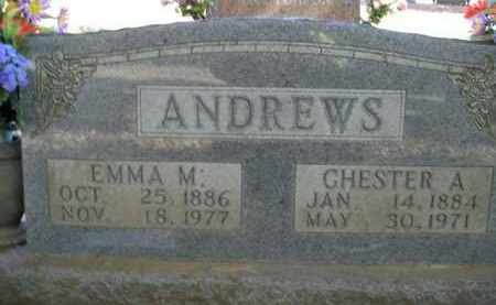 ANDREWS, CHESTER A. - Boone County, Arkansas | CHESTER A. ANDREWS - Arkansas Gravestone Photos