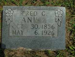 ANIKA, FRED C. - Boone County, Arkansas | FRED C. ANIKA - Arkansas Gravestone Photos