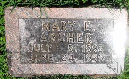 ARCHER, MARY E - Boone County, Arkansas | MARY E ARCHER - Arkansas Gravestone Photos