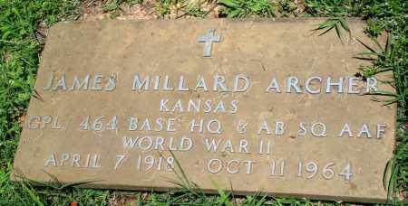 ARCHER (VETERAN WWII), JAMES MILLARD - Boone County, Arkansas | JAMES MILLARD ARCHER (VETERAN WWII) - Arkansas Gravestone Photos