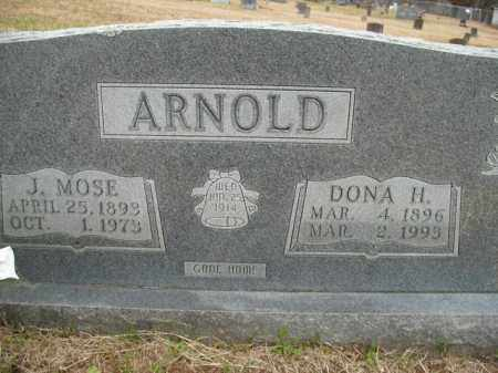 ARNOLD, J. MOSE - Boone County, Arkansas | J. MOSE ARNOLD - Arkansas Gravestone Photos