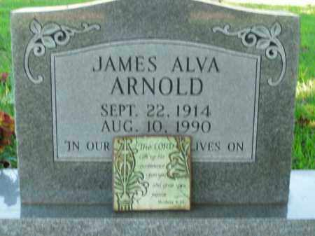 ARNOLD  (VETERAN WWII), JAMES ALVA - Boone County, Arkansas | JAMES ALVA ARNOLD  (VETERAN WWII) - Arkansas Gravestone Photos