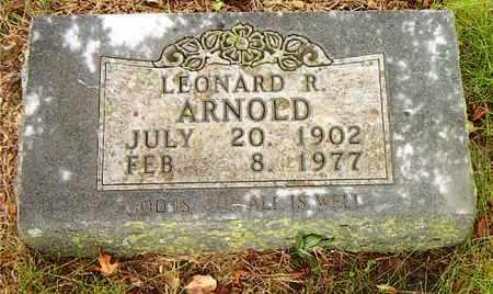 ARNOLD, LEONARD R. - Boone County, Arkansas | LEONARD R. ARNOLD - Arkansas Gravestone Photos