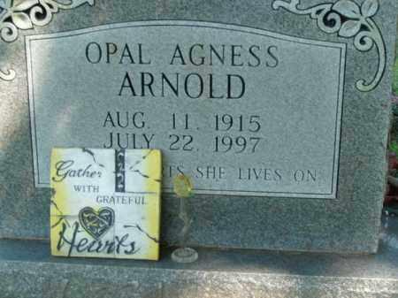 ARNOLD, OPAL AGNESS - Boone County, Arkansas | OPAL AGNESS ARNOLD - Arkansas Gravestone Photos