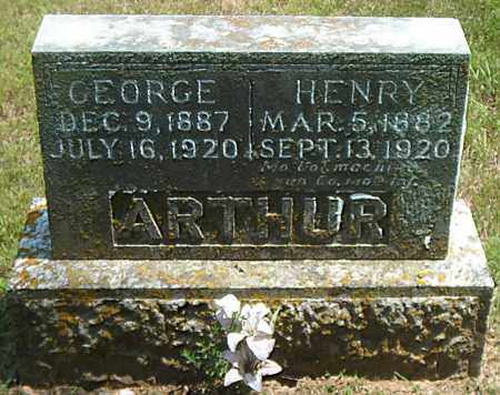ARTHUR, HENRY - Boone County, Arkansas | HENRY ARTHUR - Arkansas Gravestone Photos