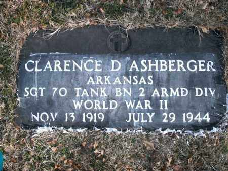 ASHBERGER  (VETERAN WWII), CLARENCE D - Boone County, Arkansas | CLARENCE D ASHBERGER  (VETERAN WWII) - Arkansas Gravestone Photos