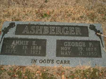 ASHBERGER, GEORGE FREDRICK - Boone County, Arkansas | GEORGE FREDRICK ASHBERGER - Arkansas Gravestone Photos
