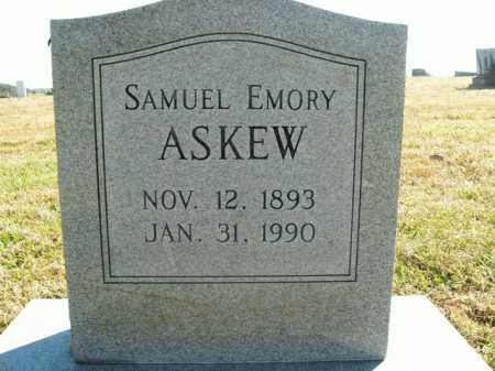 ASKEW  (VETERAN WWI), SAMUEL EMORY - Boone County, Arkansas | SAMUEL EMORY ASKEW  (VETERAN WWI) - Arkansas Gravestone Photos