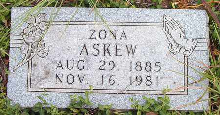 ASKEW, ZONA - Boone County, Arkansas | ZONA ASKEW - Arkansas Gravestone Photos