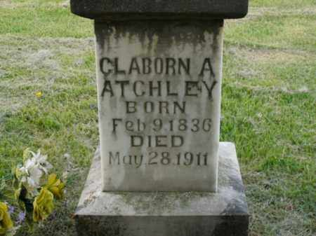 ATCHLEY, CLABORN A. - Boone County, Arkansas | CLABORN A. ATCHLEY - Arkansas Gravestone Photos