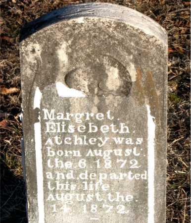 ATCHLEY, MARGRET  ELISEBETH - Boone County, Arkansas | MARGRET  ELISEBETH ATCHLEY - Arkansas Gravestone Photos
