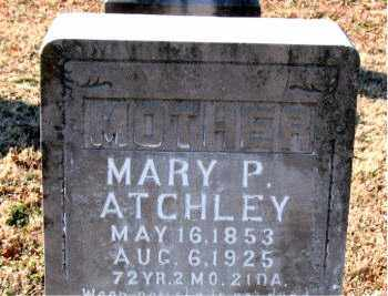 ATCHLEY, MARY PRISCILLA - Boone County, Arkansas | MARY PRISCILLA ATCHLEY - Arkansas Gravestone Photos