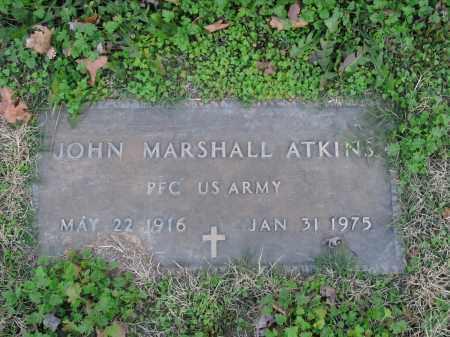 ATKINS  (VETERAN), JOHN MARSHALL - Boone County, Arkansas | JOHN MARSHALL ATKINS  (VETERAN) - Arkansas Gravestone Photos