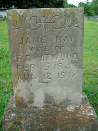 ATWOOD, JANE MAY - Boone County, Arkansas | JANE MAY ATWOOD - Arkansas Gravestone Photos