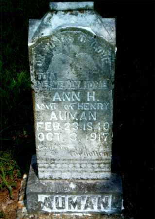 AUMAN, ANN H. - Boone County, Arkansas   ANN H. AUMAN - Arkansas Gravestone Photos