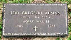 AUMAN  (VETERAN WWII), EDD GREGSON - Boone County, Arkansas | EDD GREGSON AUMAN  (VETERAN WWII) - Arkansas Gravestone Photos