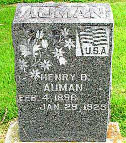 AUMAN, HENRY B - Boone County, Arkansas | HENRY B AUMAN - Arkansas Gravestone Photos