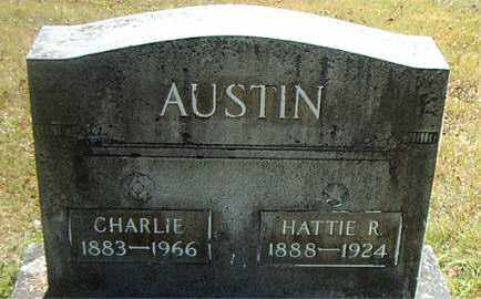 AUSTIN, HATTIE  R. - Boone County, Arkansas | HATTIE  R. AUSTIN - Arkansas Gravestone Photos