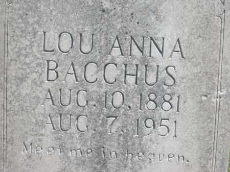 BACCHUS, LOU ANNA - Boone County, Arkansas | LOU ANNA BACCHUS - Arkansas Gravestone Photos