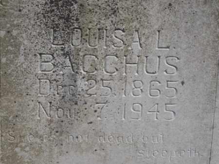BACCHUS, LOUISA L. - Boone County, Arkansas | LOUISA L. BACCHUS - Arkansas Gravestone Photos
