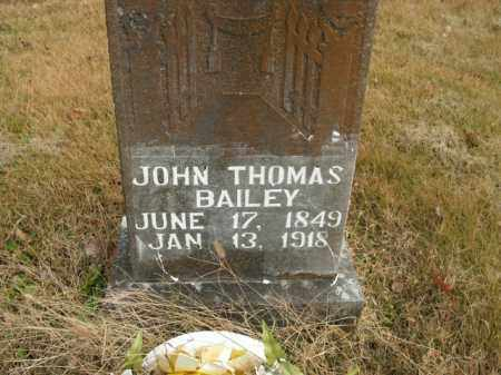 BAILEY, JOHN THOMAS - Boone County, Arkansas | JOHN THOMAS BAILEY - Arkansas Gravestone Photos
