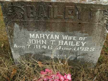 BAILEY, MARYAN - Boone County, Arkansas | MARYAN BAILEY - Arkansas Gravestone Photos