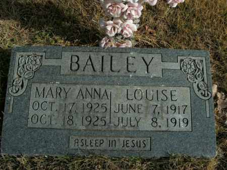 BAILEY, MARY ANNA - Boone County, Arkansas | MARY ANNA BAILEY - Arkansas Gravestone Photos