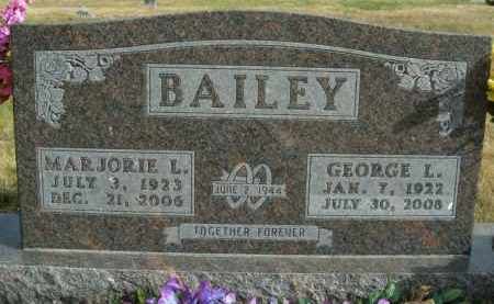 BAILEY, MARJORIE L. - Boone County, Arkansas | MARJORIE L. BAILEY - Arkansas Gravestone Photos