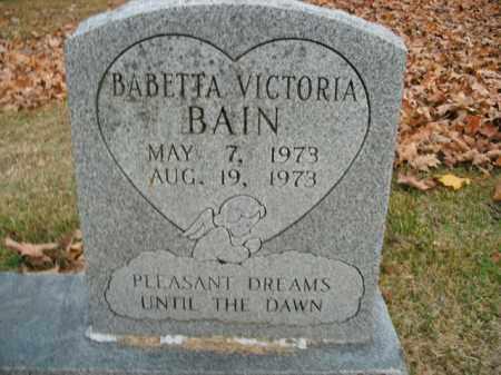 BAIN, BABETTA VICTORIA - Boone County, Arkansas | BABETTA VICTORIA BAIN - Arkansas Gravestone Photos