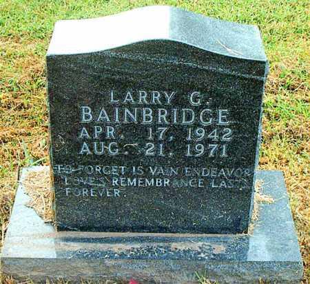 BAINBRIDGE, LARRY G - Boone County, Arkansas | LARRY G BAINBRIDGE - Arkansas Gravestone Photos