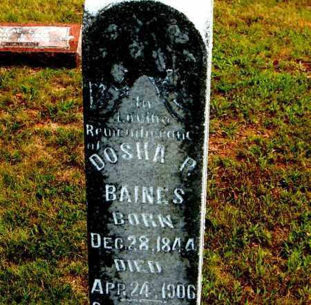 BAINES, DOSHA P. - Boone County, Arkansas | DOSHA P. BAINES - Arkansas Gravestone Photos