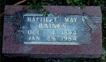 MAY BAINES, HATTIE E. - Boone County, Arkansas | HATTIE E. MAY BAINES - Arkansas Gravestone Photos