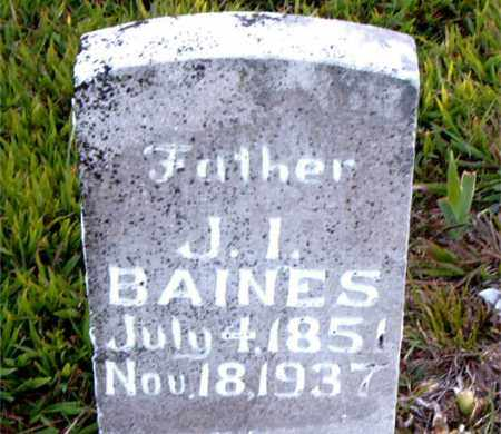 BAINES, JOSHUA IRVING - Boone County, Arkansas | JOSHUA IRVING BAINES - Arkansas Gravestone Photos