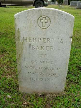 BAKER  (VETERAN WWII), HERBERT A - Boone County, Arkansas | HERBERT A BAKER  (VETERAN WWII) - Arkansas Gravestone Photos