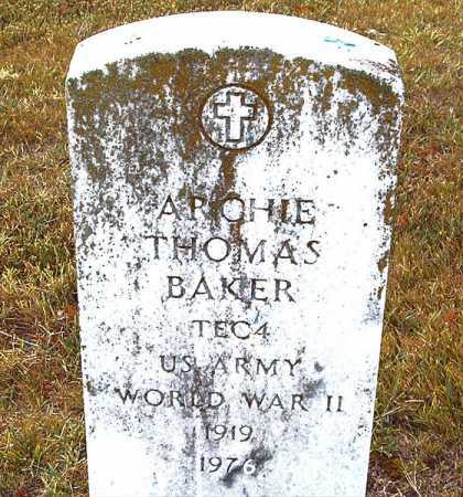 BAKER  (VETERAN WWII), ARCHIE THOMAS - Boone County, Arkansas | ARCHIE THOMAS BAKER  (VETERAN WWII) - Arkansas Gravestone Photos