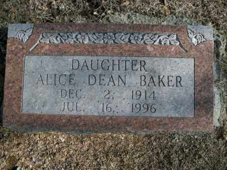 BAKER, ALICE - Boone County, Arkansas | ALICE BAKER - Arkansas Gravestone Photos