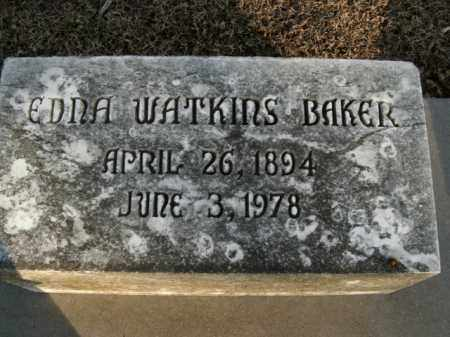 WATKINS BAKER, EDNA - Boone County, Arkansas   EDNA WATKINS BAKER - Arkansas Gravestone Photos