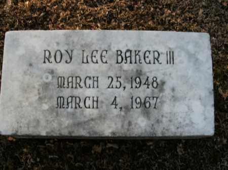BAKER, III, ROY LEE - Boone County, Arkansas | ROY LEE BAKER, III - Arkansas Gravestone Photos