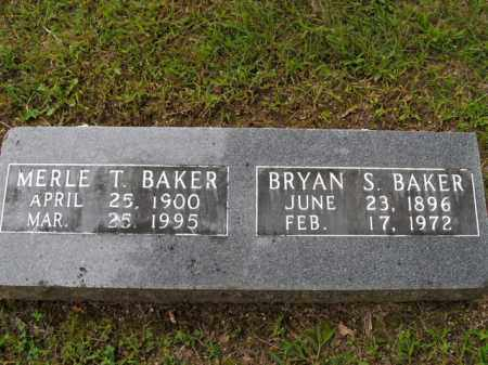 BAKER  (VETERAN WWI), BRYAN SIDNEY - Boone County, Arkansas | BRYAN SIDNEY BAKER  (VETERAN WWI) - Arkansas Gravestone Photos