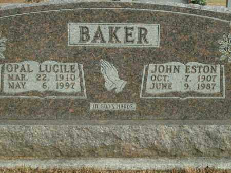 BAKER, JOHN ESTON - Boone County, Arkansas | JOHN ESTON BAKER - Arkansas Gravestone Photos