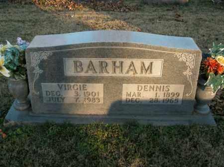 BARHAM, VIRGIE - Boone County, Arkansas | VIRGIE BARHAM - Arkansas Gravestone Photos