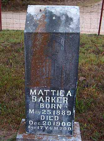 BARKER, MATTIE  A. - Boone County, Arkansas | MATTIE  A. BARKER - Arkansas Gravestone Photos