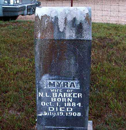 BARKER, MYRA - Boone County, Arkansas | MYRA BARKER - Arkansas Gravestone Photos
