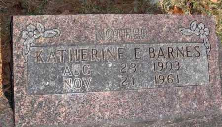 BARNES, KATHERINE E. - Boone County, Arkansas | KATHERINE E. BARNES - Arkansas Gravestone Photos
