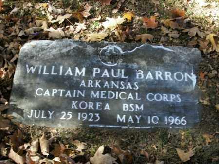 BARRON  (VETERAN KOR), WILLIAM PAUL - Boone County, Arkansas | WILLIAM PAUL BARRON  (VETERAN KOR) - Arkansas Gravestone Photos