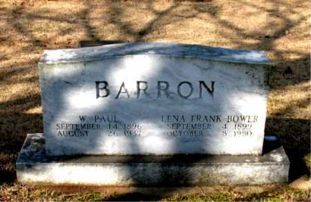 BARRON, WALTER PAUL - Boone County, Arkansas | WALTER PAUL BARRON - Arkansas Gravestone Photos